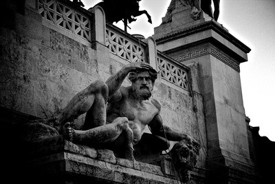 sculpture, man, god, statue of greek god, city wall, castle wall, ancient sculpture