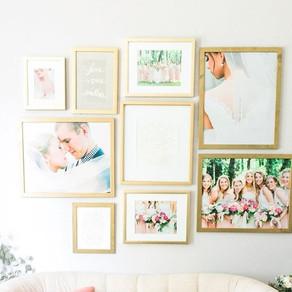 Wedding Walls: A Designer Tells Us How to Display Wedding Photos Like a Pro
