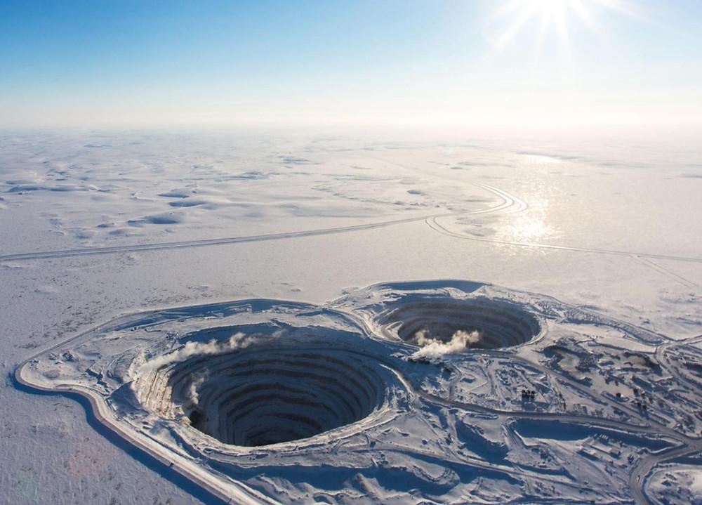 diamond mine, diamond mining
