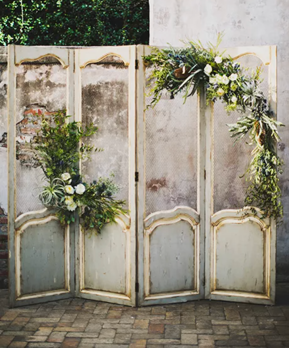 Wedding Scrim, Wedding Screen, DIY Wedding Alter, DIY Wedding Backdrop