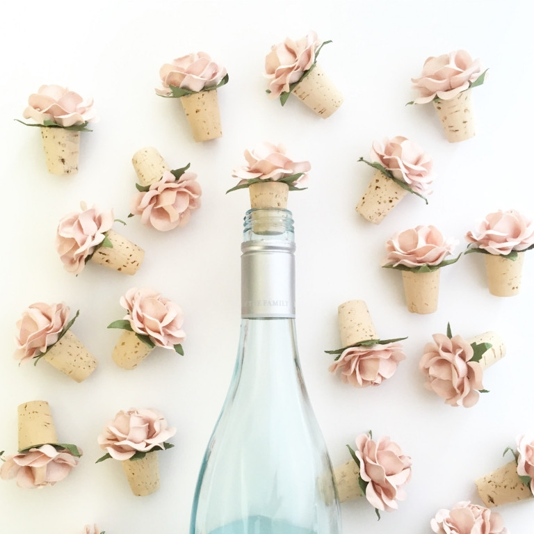 flower wine toppers
