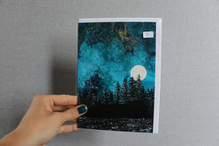 East Sooke Left of Moon Blank Card $5