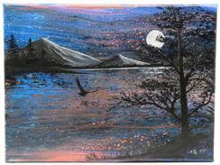 Moonlit Eagle