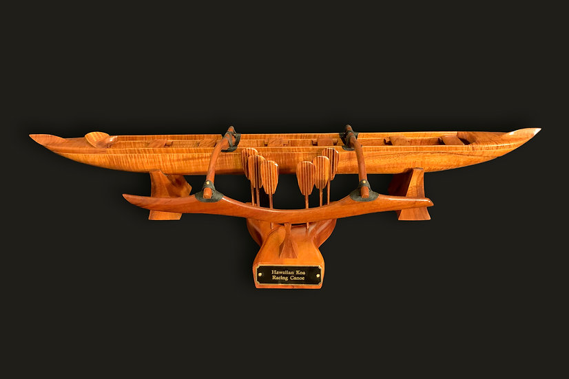 Small Curly Koa Racing Canoe