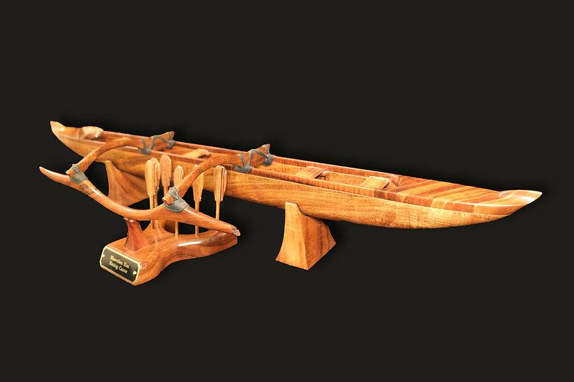 Medium Solid Koa Racing Canoe
