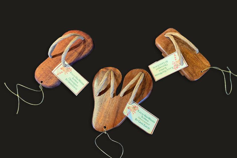 Koa Slippers Ornaments - 3 Piece Set