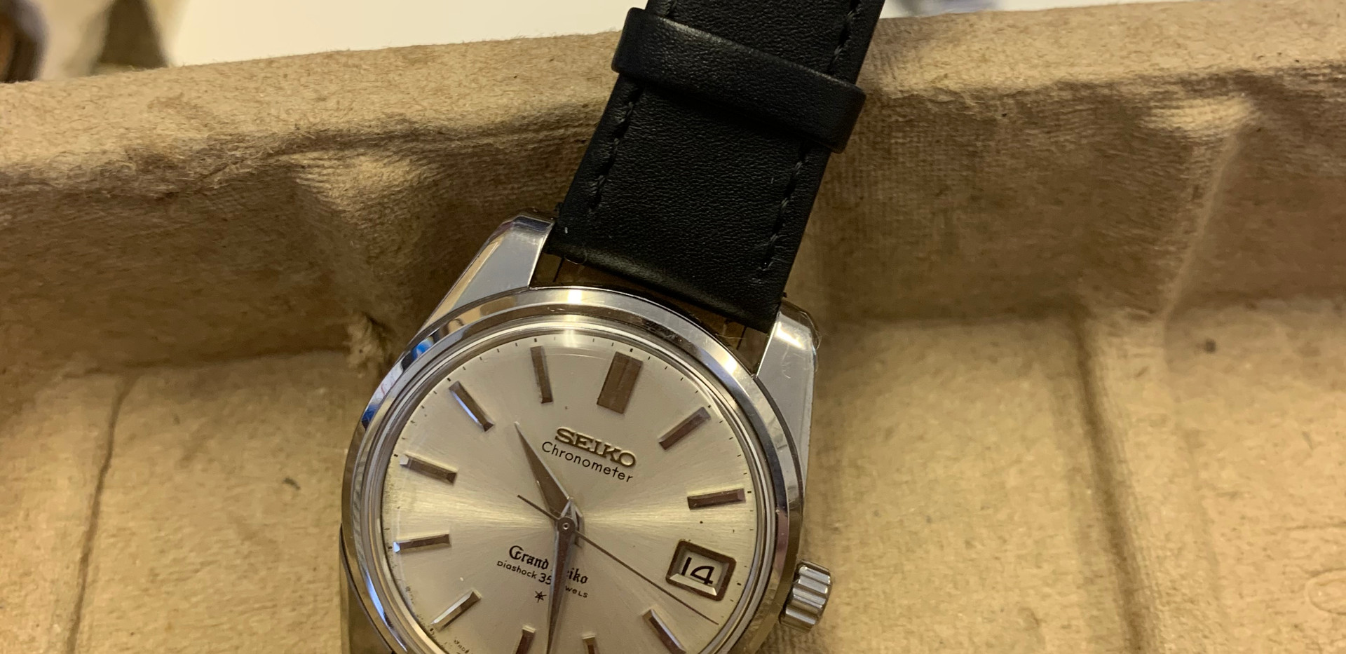 An absolutely stunning Vintage Grand Seiko Ref: 43999. There were some phenomenal watches that we saw, including a vintage AP and Patek, but this was one of my favourites...