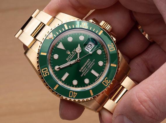 An all gold Rolex Hulk