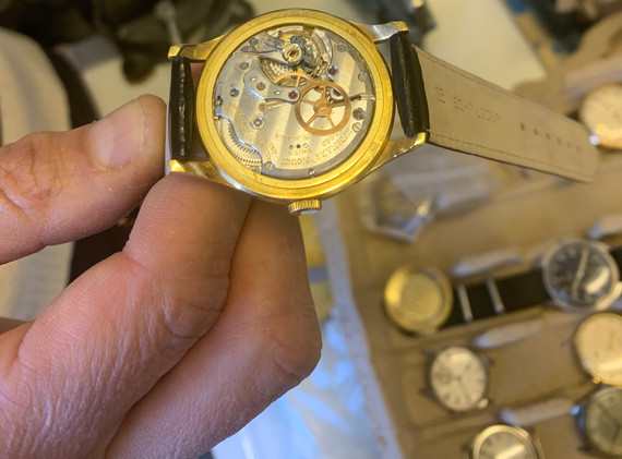One of Crispins special pieces, a vintage Audemars Piguet three hander from the 60's.