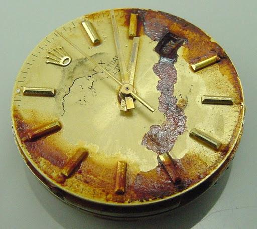Damaged Rolex Dial (Bad Patina)