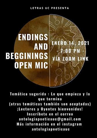 endings and beginnings -- lo que empieza
