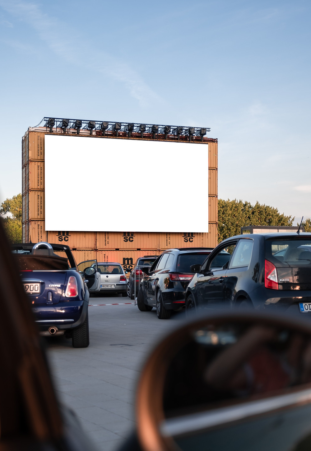 drive-in movie theater in the daytime