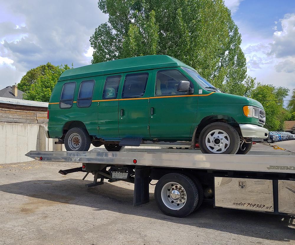 green van tow breakdown