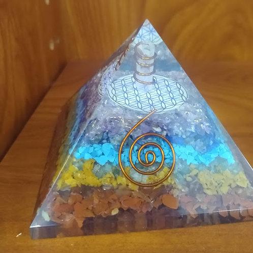 Orgonite Chakra Pyramid