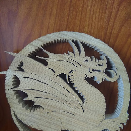 Wooden Dragon Hanger