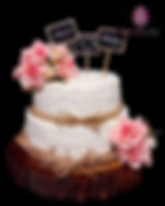2 tier buttercream wedding cake with flowers.