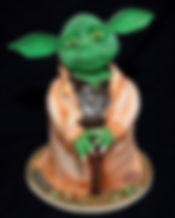 My Yoda cake...all 16inches of him is ed