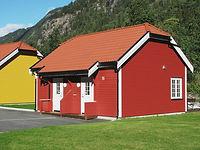small cabins, summer, Rjukan Hytteby