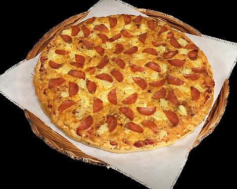 Pizza nr. 2 med pepperoni og ananas