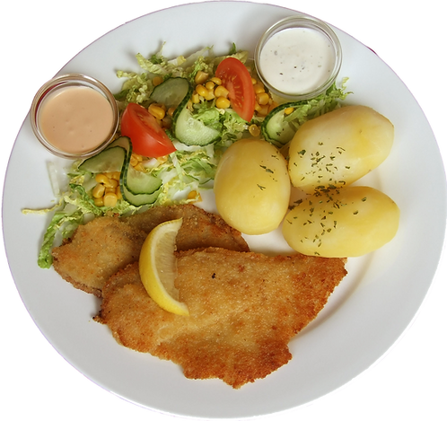 Rødspette med remulade og salat