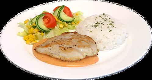 Kyllingfilet med ris og choronsaus