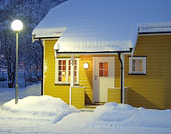 Cabin at winter