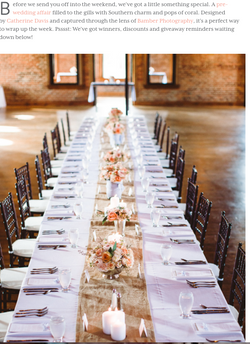 estate tables wedding reception