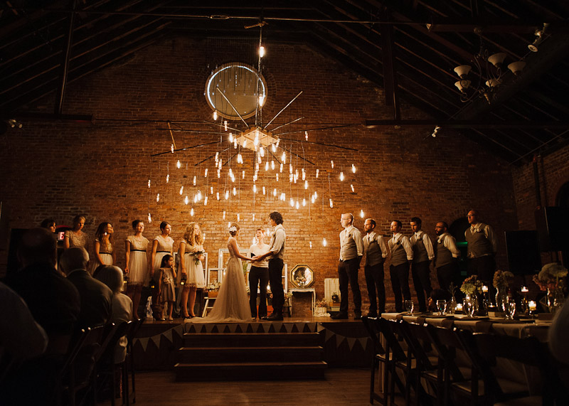 Edison Bulbs Chandelier for Wedding