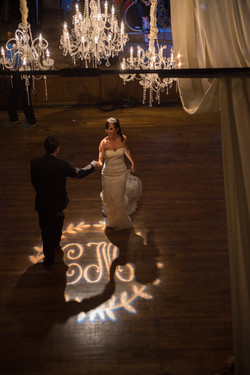 Wedding monogram light projection