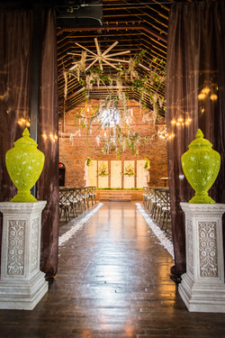 Doors as a backdrop for wedding