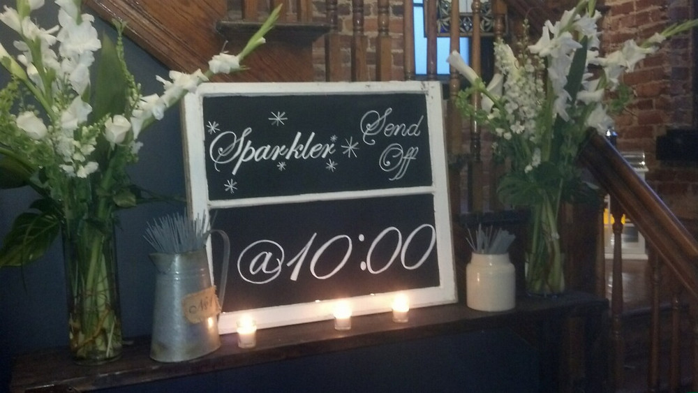 Sparkler Send Off Wedding Sign for your guests www.weddingvenue-tn.com
