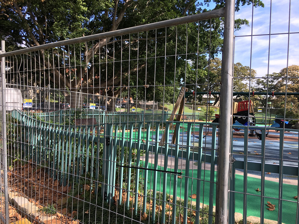 Rushcutters Bay Park playground locked off due to Covid-19 restrictions