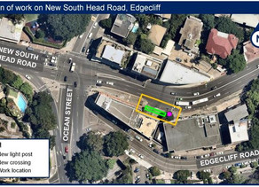 Upgrade to pedestrian safety on New South Head Road & Ocean Street, Edgecliff