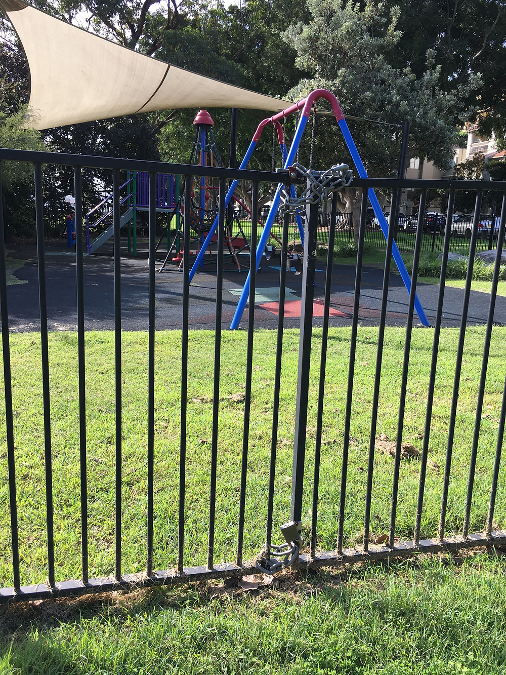 Yarranabbe Park playground locked off due to Covid-19 restrictions