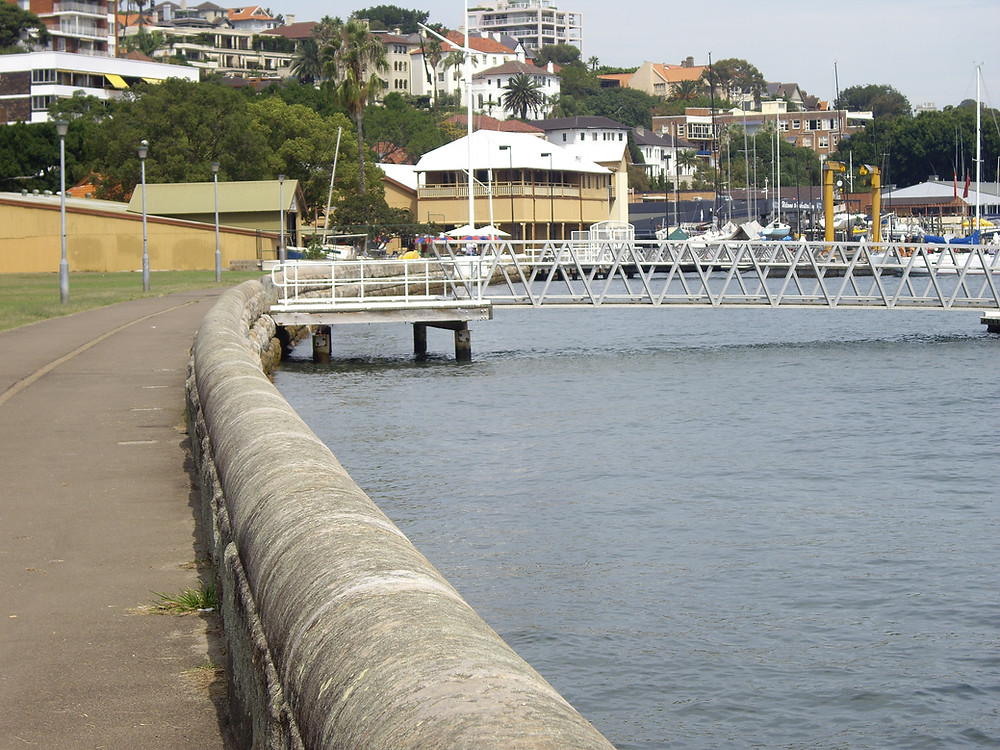 The current pier in Yarranabbe Park.