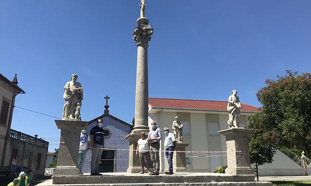 FREGUESIAS - Soutelo Requalificação do Cruzeiros e estátuas da Igreja Paroquial julho 2021