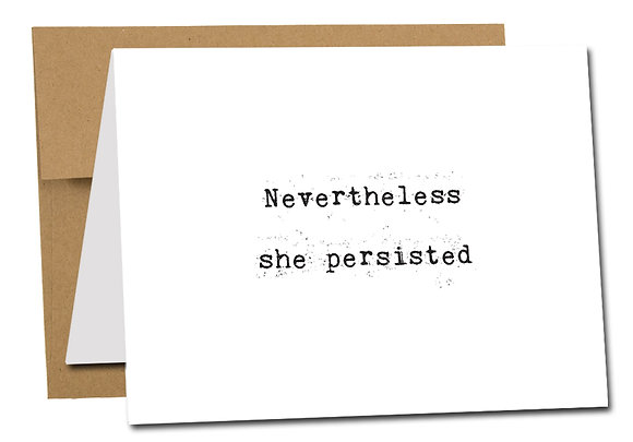 NEVERTHELESS SHE PERSISTED wholesale