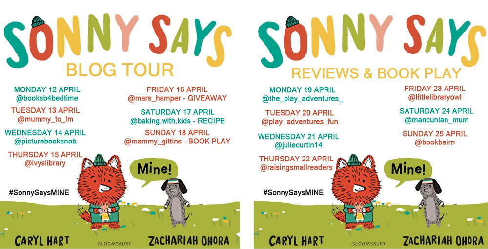 """BLOG TOUR: Sonny Says, """"Mine!"""" by Caryl Hart and Zachariah Ohora, Bloomsbury"""