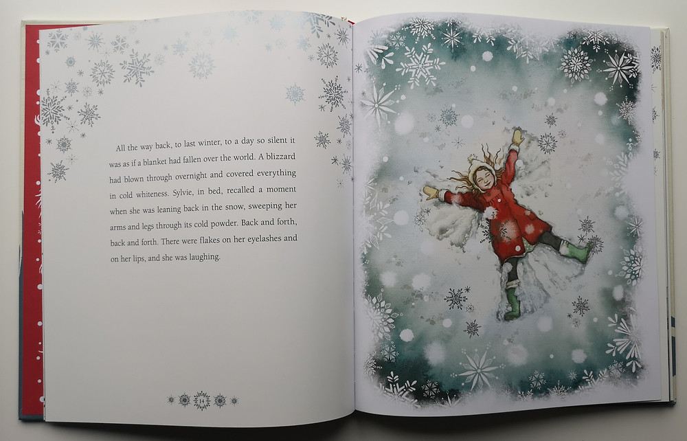 illustration from Where Snow Angels Go by Maggie O'Farrell and Daniela Jaglenka Terrazzini Walker Books