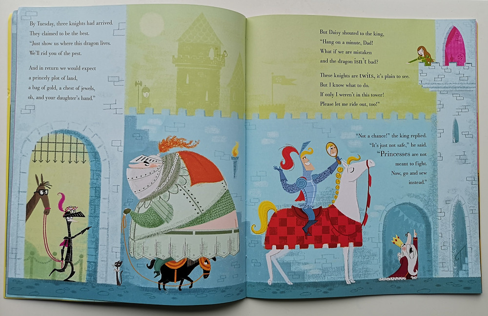 Princess Daisy and the Dragon and the Nincompoop Knights by Steven Lenton, Nosy Crow