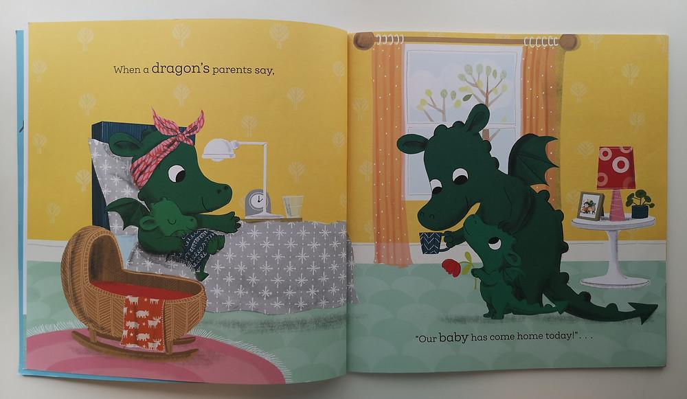 When a Dragon Meets a Baby Caryl Hart Rosalind Beardshaw Nosy Crow