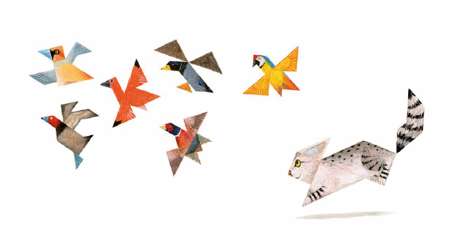 Illustration from Tangram Cat by Maranke Rinck & Martijn van der Linden Lemniscaat, published by Lemniscaat