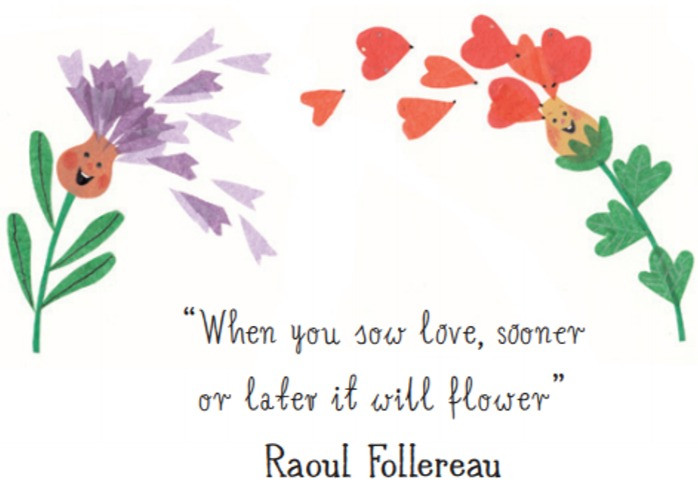 quote by Raoul Follereau, illustrated by Hoda Hadadi