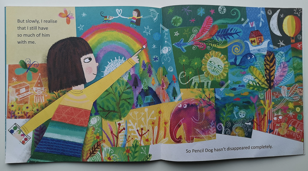 Illustration from Pencil Dog by Leigh Hodgkinson, published by Simon & Schuster