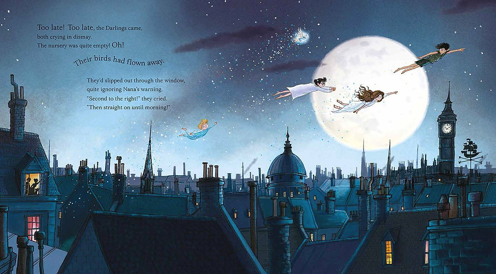 A gift edition of Peter Pan, retold by Caryl Hart and illustrated by Sarah Warburton, Nosy Crow