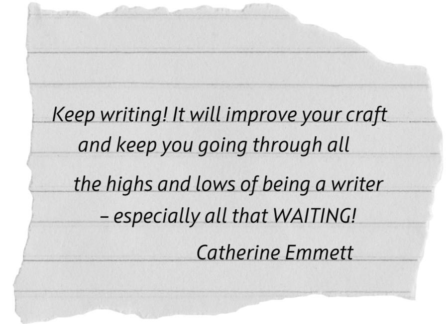 Author Catherine Emmett's advice to aspiring writers