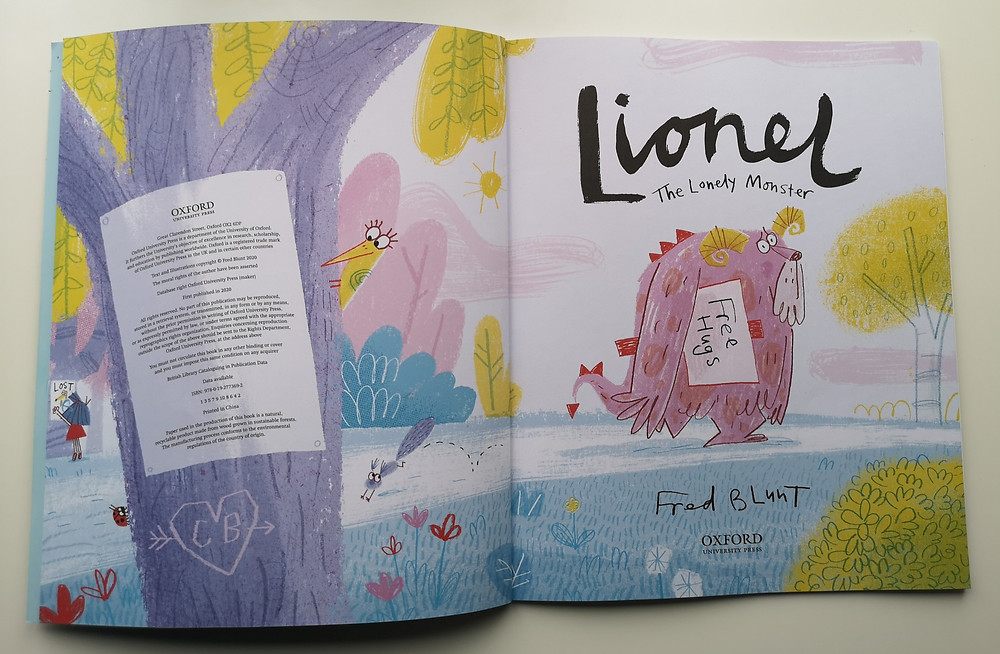lionel the lonely monster fred blunt Oxford Chilren's Books title pages