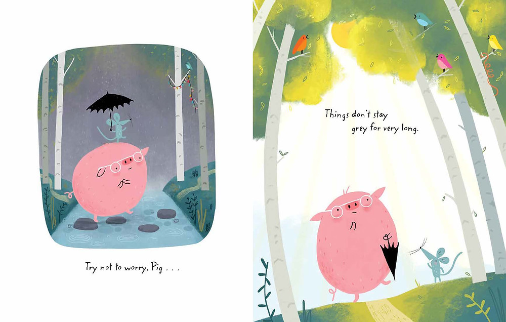 An illustration from What if, Pig? by Linzie Hunter