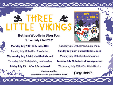 BLOG TOUR: Three Little Vikings by Bethan Woollvin review + interview