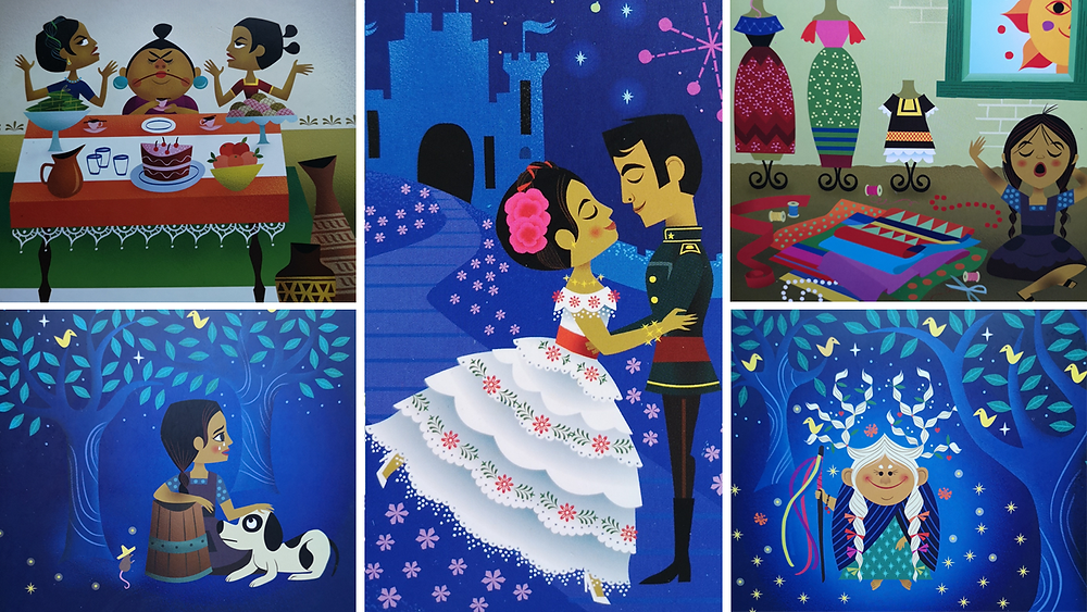 Images from Cinderella by Chloe Perkins & Sandra Equihua Simon & Schuster Once Upon a World